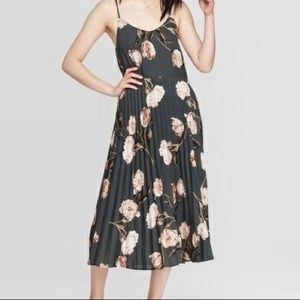 A New Day floral pleat midi length dress XS and M